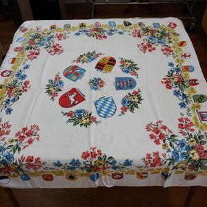 Other - VINTAGE German Souvenir Square Tablecloth